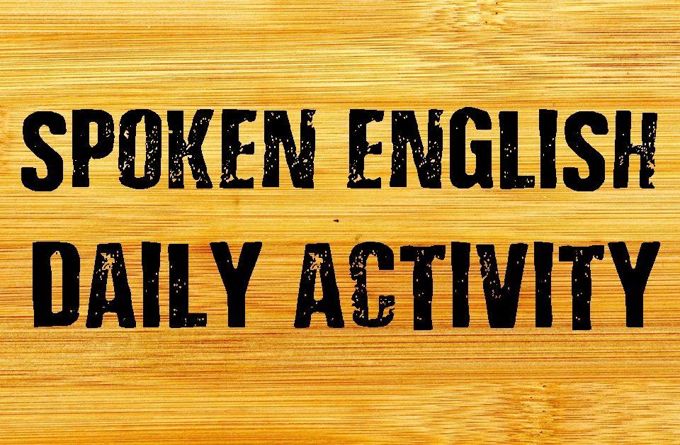 Basic English Speaking-Daily Activity